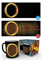 MGH0023 LORD OF THE RINGS One Ring  Coffee Mug Changes Colour When Hot GBEYE