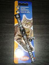 collier ANTI ETRANGLEMENT  pour chat bleu / marron avec bijou