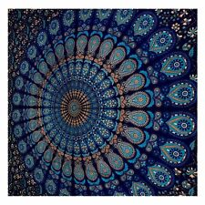 Indian Mandala Wall Hanging Peacock Feather Beach Blanket Throw Twin Tapestries