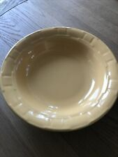 Longaberger Pottery Woven Traditions Serving Butternut Yellow Bowl~Get Together