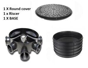 Amazon Civils 450mm Inspection Chamber Manhole - Base, Riser, Cover & Frame