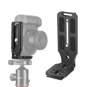 Neewer L Shape Bracket Vertical QR Plate Universal DSLR Camera L Bracket Black