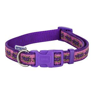 Ancol Woof! Dog Collar - Purple small 20-30cm SALE
