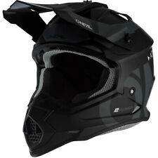 Oneal MX 2021 2 Series Slick Black/Grey Off Road Motocross Dirt Bike Helmet