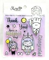 UNICORN MAGIC Clear Rubber Stamp Set - Craft Smith - Scrapbook Stamping Planners