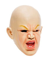Adult Angry Baby Scary Latex Halloween Horror Mask Fancy Dress UK