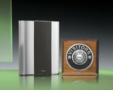 Libra+ Classic 100m Wireless Doorbell kit Chrome Visitors/Tudor Oak, D912TVC