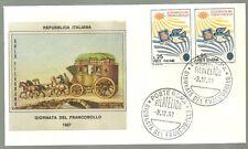 ITALIA BUSTA FILAGRANO GOLD 1967 GIORNATA FRANCOBOLLO ANNULLO SPECIALE FDC ROMA