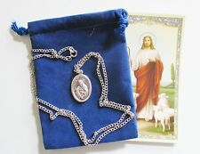 Lovely St. Catherine Siena Saint Medal with 24 Inch Necklace