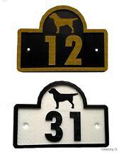 Labrador House Door Number Plaque -Garden Gate Dog Sign (0 to 9999)
