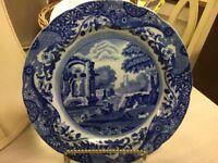 Spode's Italian-Copeland-England-Blue & White Dinner Plate-10.5'-Vintage-Lovely!
