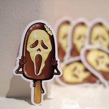"#1266 Scream Scary Movie Ice-Cream Mask Spoof Funny Parody 3x2"" Decal Sticker"