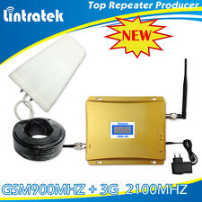 LCD 3G 2100MHz GSM 900MHZ Mobile Cell Phone Signal Strength Booster Repeater