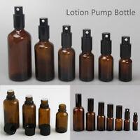 Mini Empty Brown Glass Bottle Aromatherapy Essential Oil Storage Acces 5-30ml