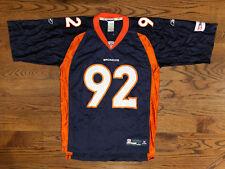 9ee639bf3 New ListingNWOT L Men s Reebok On Field Elvis Dumervil  92 Denver Broncos  Football Jersey