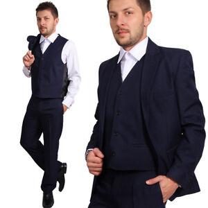 Regular Herren Anzug 3Teiler Sakko Hose Weste Büro Business Hochzeit Bräutigam
