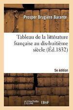 Tableau de la Litterature Francaise Au Dix-Huitieme Siecle 5eme Edition by...