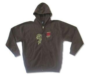 Cheech & Chong Light Up Embroidered Brown Zip Up Men's Sweatshirt New Official