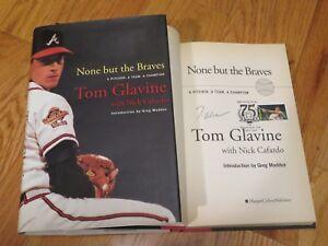TOM GLAVINE signed NOTHING BUT THE Atlanta BRAVES Book Induction CANCELED Stamp