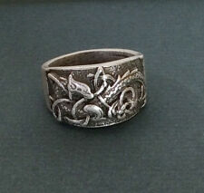 Viking Celtic Dragon Symber Norse Ring Size U