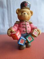 Vintage Priscilla Hillman Cherished Teddies Jeffrey Toy Soldier Santa Teddy Bear