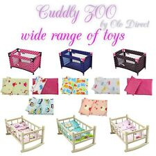 "NEW Dolls Travel Crib Cot Bed Pram Girls Toys - LARGE Fits Up to 45cm 17.5"" Doll"