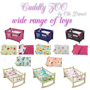 """Travel Cot for Dolls - LARGE Fits Up to 45cm 17.5"""" Doll, Toy"""