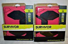NWT Heavy Duty Griffin Survivor All-Terrain Case & Stand for iPad Air Pink Black