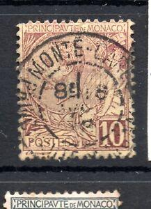 Monaco (4921) 18891 Prince Albert   10c Brown On Yellow used Sg14