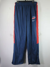 Nike mens navy red USA Storm Fit lined wind rain resistant track pants M 32 VGUC