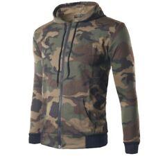 Mens Western style Long sleeve Camouflage Hooded Jacket Hoodie Outwear Leisure B