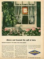 1945 Print Ad of Goodyear Tires WWII Gold Star Family Service Flag buy war bonds