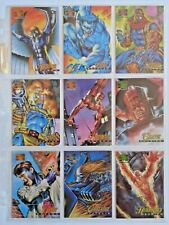1995 MARVEL MASTERPIECES SERIES 4 *CANVAS* COMPLETE 22 CARD CHASE SET **RARE**