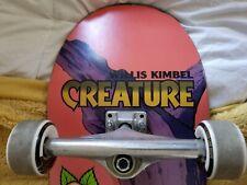 Creature Skateboard Pro Deck Willis Kimbel 9.0 Independent Bones Swiss Oj Wheels