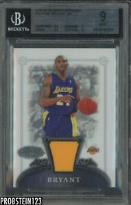 2006-07 Bowman Sterling Kobe Bryant Jersey Los Angeles Lakers BGS 9 w/ 9.5