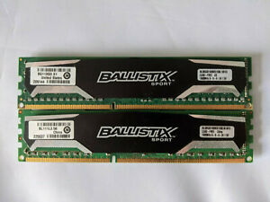 16 GB Ballistix Sport 2x8GB DDR3 (BLS8G3D1609DS1S00) PC3-12800 DDR3-1600 RAM