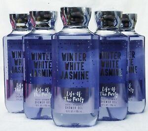 5 Bath & Body Works WINTER WHITE JASMINE Life of Party Body Wash Shower Gel 8 oz