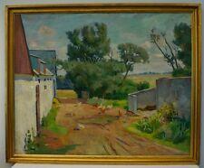 Edvard ØLUND-HANSEN (1887-1979) SONNIGER BAUERNHOF & SOMMERTAG AUF BORNHOLM