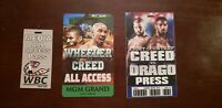 Creed 2 Production Used Fight Pass All Access Press Set Original Movie Prop