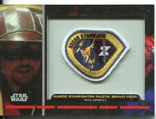Star Wars Galactic Files Embroided Patch Relic Card PR-8 Rya Kirsch