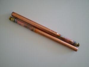 Copper Tap Tails (PAIR) M12 x 15mm for monobloc basin & sink mixer taps