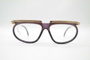 Vintage Cazal 335 Gold Violett oval Brille Brillengestell eyeglasses NOS