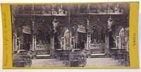 Venezia Interno Da L'Église Mendicoli Italia Foto Stereo Vintage Albumina