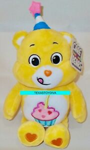 Care Bears Happy Birthday Bear Stuffed Bean Plush Cupcake With Candle Party Hat