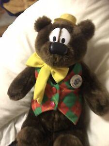 Vintage Humphrey B Bear Plush Stuffed Toy 35cm 2003 With Channel 9 Tin Badge