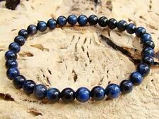 Natural Gemstone Men's Stretchable bracelet all 6mm BLUE Tiger Eye beads