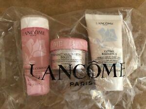 LANCOME Bienfait Multi-Vital NIGHT creme radiance tonique toner cream lotion lot