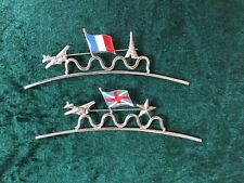 Pierre Bex Ferraggioli Silver Plate On Copper Brooch British/French Flag CHOOSE