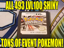 POKEMON PLATINUM AUTHENTIC All 493 SHINY GAME UNLOCKED EVENT POKEMON!