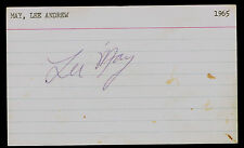 Lee May signed autograph auto 3x5 index card Baseball Player H4451